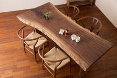 ブラックウォールナット 一枚板テーブル 長さ2070mm t-bwn005 | ウォールナット一枚板テーブル | ヴェレックス