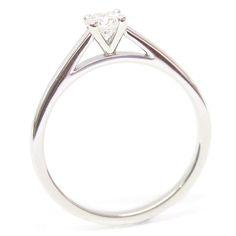 Platinum Four Claw Statement Setting Diamond Engagement Ring, Form Bespoke Jewellers, Leeds, Yorkshire, UK