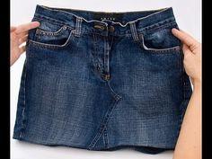 Denim skirt sewing