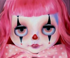 Big Oil Painting Blythe Doll Original Art Lowbrow by EmmaMount
