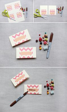 Free printable place cards or could be tags to.