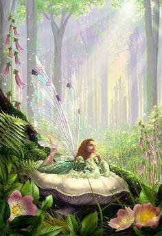 Forest Fairy, Fairy Land, Fairy Dust, Dragons, Wall Art Prints, Canvas Prints, Big Canvas, Framed Prints, Fairy Paintings