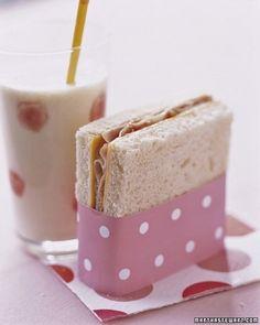 Super cute party sandwich wrap