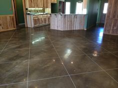Smooth but Slip Resistant Stained and Polished Concrete in DeWitt, Arkansas.