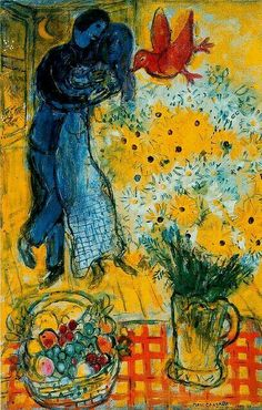 Lovers with daisies. Marc Chagall