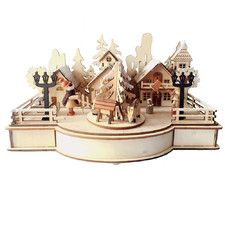 Christmas Craft Cityscape Music Box