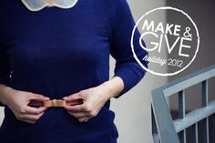 make and give // diy leather bow belt | Lovely Indeed