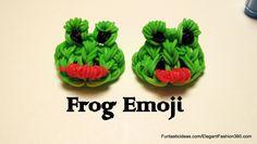 Rainbow Loom Frog Emoji/Emoticon charm - How to tutorial by Elegant Fashion 360.