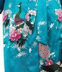 Satin Pajama Kid / Children Sleepwear Wedding Flower girls Gown High Quality Kimono Robes Peacock Nightgown