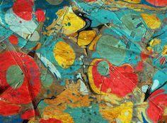 Abstract Painting ; Canyon Art Print  // bialy kot art // bialykots.tumblr.com