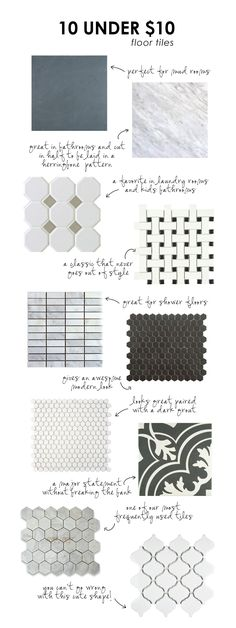 10 floor tiles under $10/sq.ft. || Studio McGee