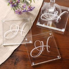 Personalized gifts are great! Great wedding gift!