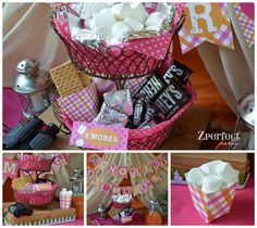 S'mores at a Glamping Party #glamping #party