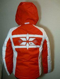 Elegante Damen Skijacke Polar von Mountain Spirit in rot/weiß Pose, Elegant, Nike Jacket, Athletic, Hoodies, Sweaters, Jackets, Fashion, Snowboarding Jackets