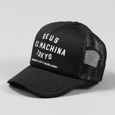 Deus Ex Machina Tokyo Address Trucker Cap Black White