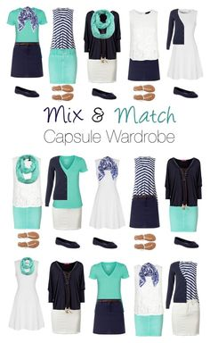 """Capsule Wardrobe: Navy and Mint"" by mary-grace-see on Polyvore featuring Phase Eight, True Decadence, Closed, Hurley, Halogen, ModestlyChic Apparel, Aéropostale, Old Navy and capsulewardrobe"