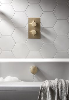 Create An Indulgent Bathroom Space With Marble Tiles And Our MPRO Brushed  Brass Brassware. Laundry