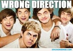 Wrong Direction. Pretty much.