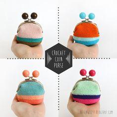 Crochet coin purse - besenseless.blogspot.com