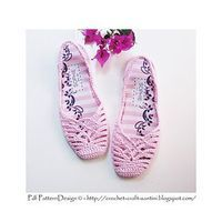 alice brans posted Crochet SlingBack Slipper Pattern. Full stitch-diagram in instruction, and step-by-step Photo-Tutorial for the entire project. As all my crochet slippers, also this pair is turned into shoes! Apply in- and out-soles, + treatment for str...