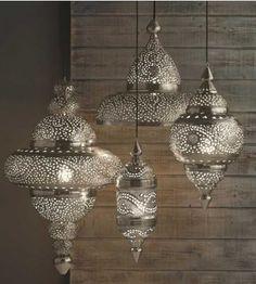 Viva Terra Silver Moroccan Hanging Lamp - ShopStyle