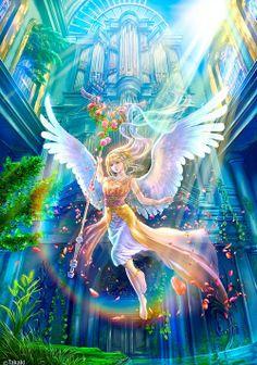 Anime Kida sacred animekida angels wallpaper staff caduceus by takashi mare manga sacred animekida a