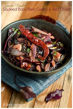 Sauteed Baby Beet Greens and Red Chard