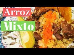 Cómo hacer arroz mixto #arrozmixto #arroz Carne, Tacos, Mexican, Beef, Ethnic Recipes, Youtube, Food, Homemade Recipe, Cooking