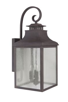 Features:  Product Type: -Wall lantern.  Finish: -Bronze.  Hardware Finish: -Stainless steel.  Distressed: -Yes.  Fixture Material: -Metal.  Hardware Material: -Stainless steel.  Shade Material: -Glas