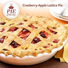 Cranberry-Apple Lattice Pie Recipe from Taste of Home -- shared by Adri Barr Crocetti, Sherman Oaks, California