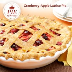 Cranberry-Apple Lattice Pie Recipe from Taste of Home -- shared by Adri Barr Crocetti, Sherman Oaks, California