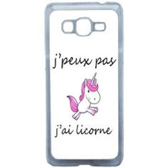 Etui Housse Coque Originale Humour J'Peux Pas J'Ai Licorne Samsung Galaxy Grand Prime Iphone 6, Coque Iphone, Phone Charger, Phone Cases, Telephone Samsung, Accessoires Iphone, Cute Charms, Son Luna, Kawaii