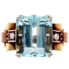 22 ct. Aquamarine Ring at 1stdibs