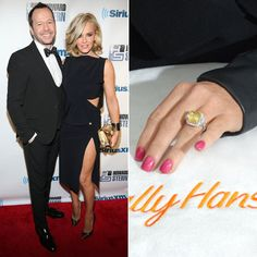 Pin for Later: Ogle the Most Massive Celebrity Engagement Rings Jenny McCarthy Jenny McCarthy got engaged to Donnie Wahlberg in 2014, showing off her more-than-10-carat yellow engagement ring on The View.