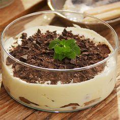 Tiramisu med hakket chokolade