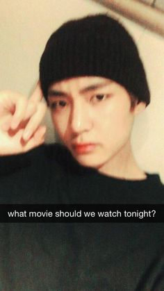 """(Snapchat Taehyung) Taehyung trying to organize the plans for you two so you can have the best night."""