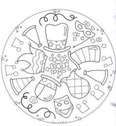 RECURSOS y ACTIVIDADES para EDUCACIÓN INFANTIL con los que todo maestro sueña. Juegos, fichas, recursos y actividades educación infantil. Mandala Coloring, Colouring Pages, Adult Coloring Pages, Coloring Sheets, Coloring Books, Theme Carnaval, Funky Hats, Kids Carnival, Quilting Templates