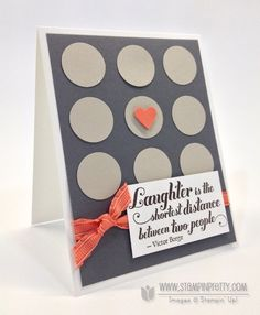 Stampin up stampinup order pretty circle punch feel goods stamp set card ideas
