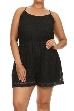 Black Lace Romper - #blondellamydean #plussizefashion #plussize #curves