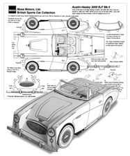 Paper car cut-outs - Austin-Healey 3000 BJ7 MKII