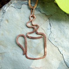 Steaming Mug Pendant. I have to make one of these for my daughter!