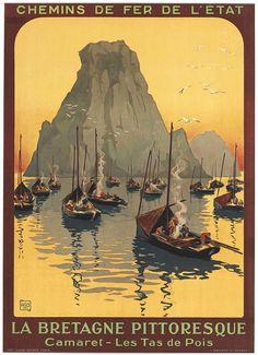 Vintage French Railways Dordogne La Roque Gageac Tourism Poster Print A3//A4