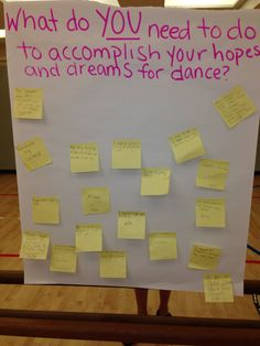 First day of school, after students have journaled about their dance class hopes and dreams.