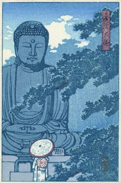 Great Buddha, Kamakura by Kawase Hasui