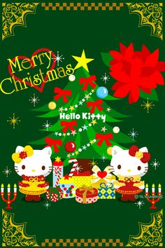 hello kitty christmas | Download FREE Wallpapers for iPhone 4