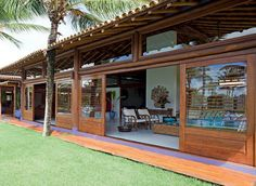 dream house plans, my dream home, surf house, rancho, enclosed po Bungalow, Cute House, My House, Tropical Houses, Backyard Patio, My Dream Home, Interior And Exterior, Beach House, Architecture Design