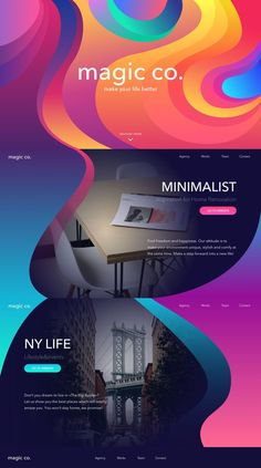 landing page design by TUBIK