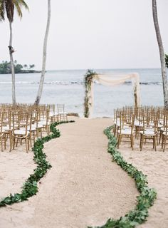 simple beach wedding ceremony decoration ideas wedding aisle 20 Stunning Beach Wedding Ceremony Ideas-Backdrops, Arches and Aisles - EmmaLovesWeddings Simple Beach Wedding, Beach Wedding Aisles, Beach Wedding Favors, Wedding Ceremony Decorations, Trendy Wedding, Summer Wedding, Romantic Beach Weddings, Destination Weddings, Beach Wedding Themes