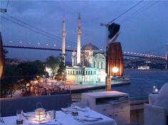 Banyan restaurant had awesome views over the Bosphorus, food meh, but a fun scene