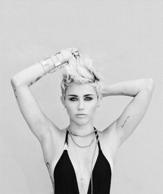 Miley Cyrus's short hair. Personally I think she rocks the look! It also looks really good on her, you have to be really confident in yourself to be able to do this.